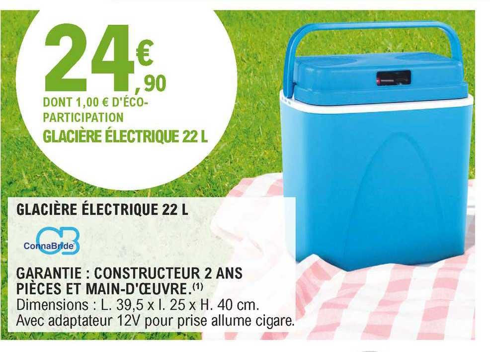 E.Leclerc Glacière électrique 22 L Connabride