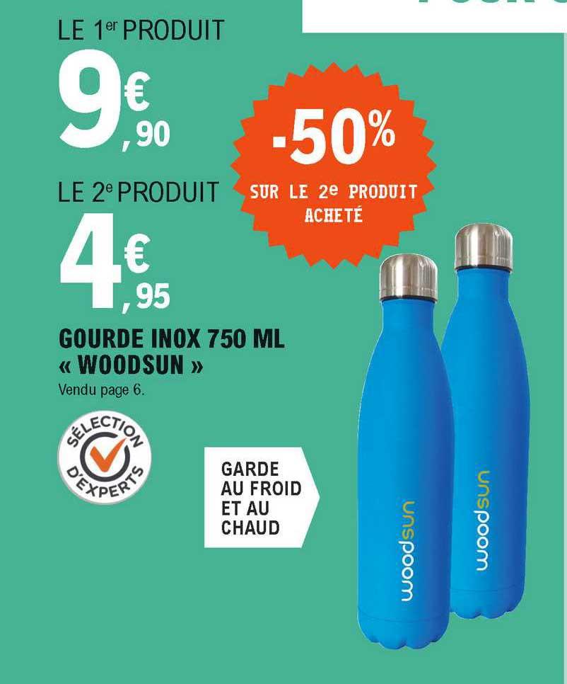 E.Leclerc Gourde Inox 750 Ml