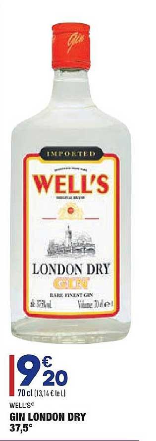 Aldi Gin London Dry Well's
