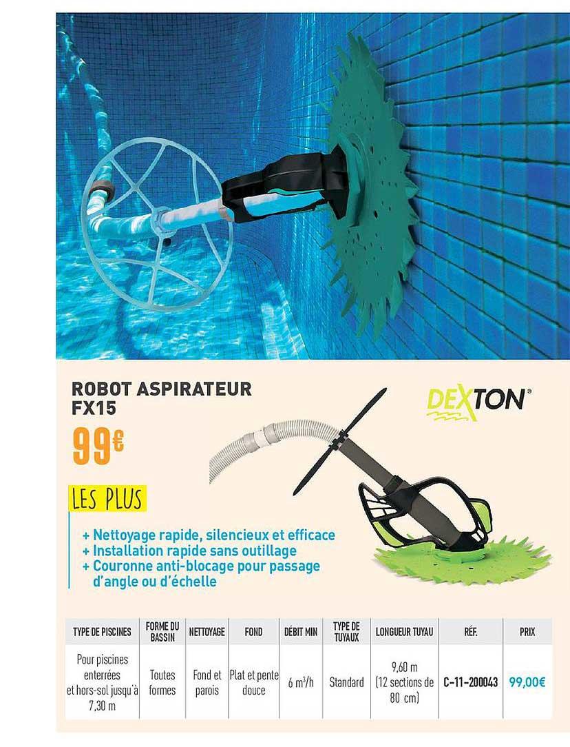 ROBOT ASPIRATEUR DEXTON DX7 | Cash Piscines