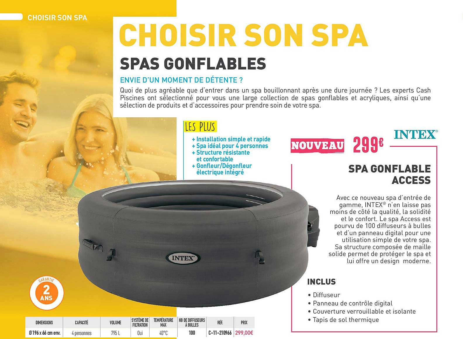 Cash Piscines Spa Gonflable Access Intex