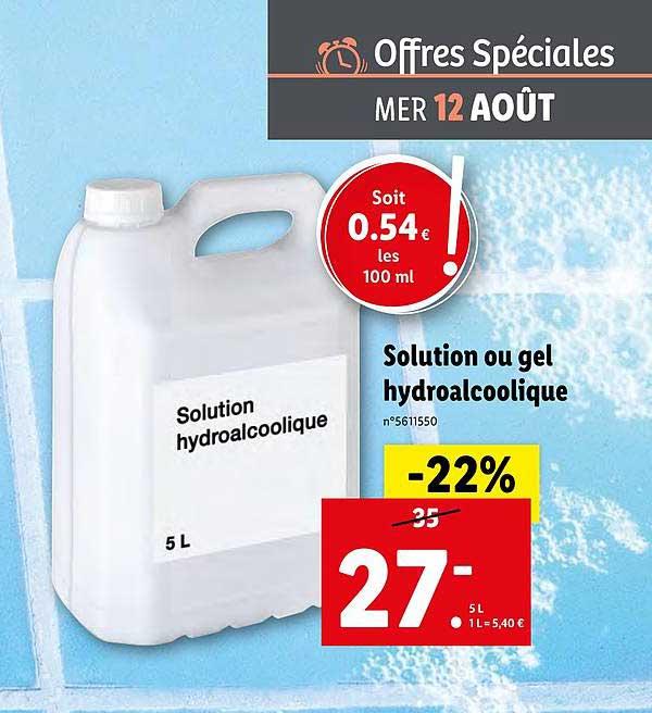 Lidl Solution Ou Gel Hydroalcoolique