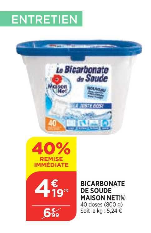 Bi1 Bicarbonate De Soude Maison Net 40% Remise Immédiate