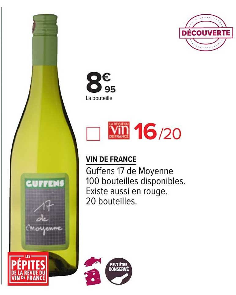 Carrefour Vin De France Guffens 17 De Moyenne