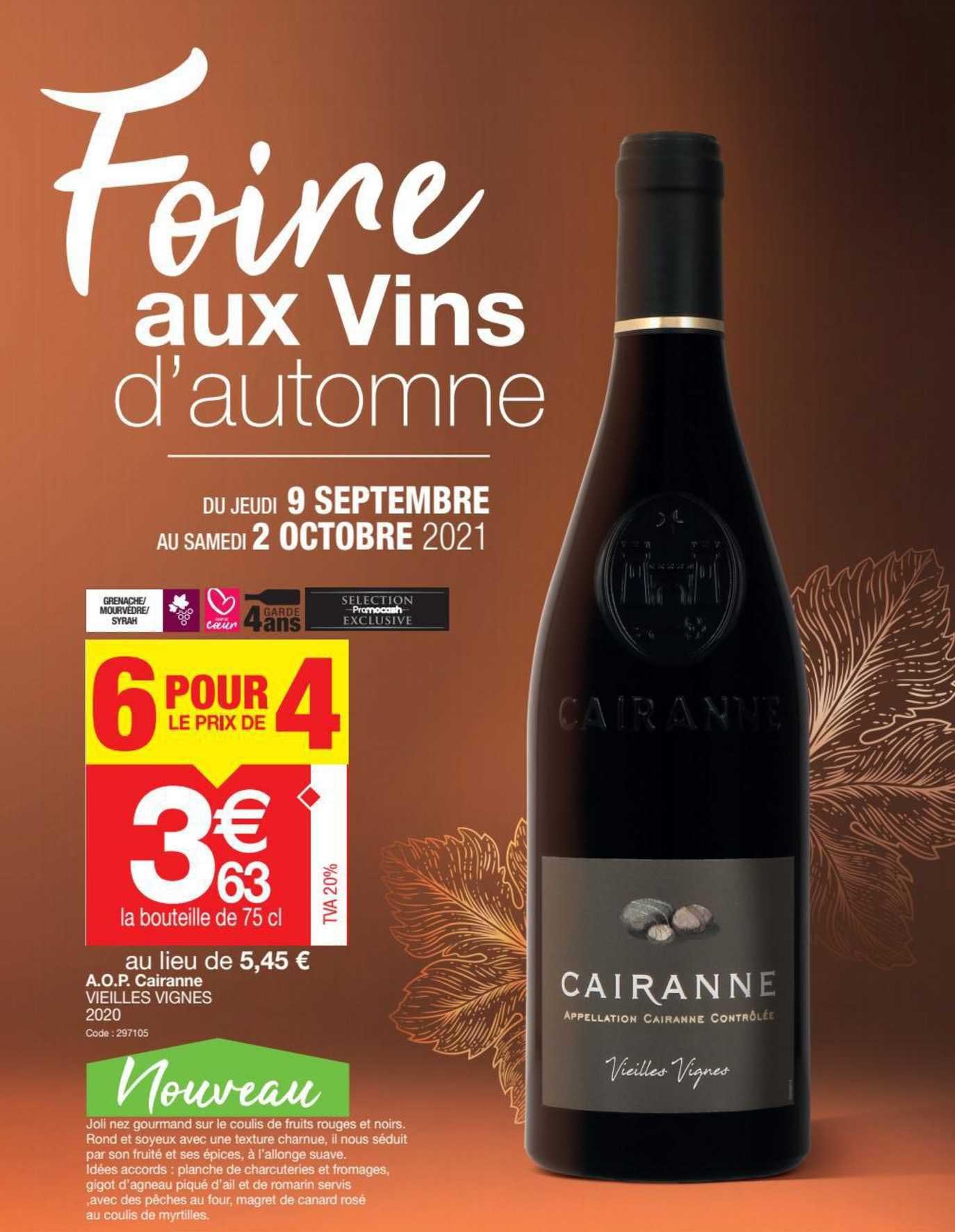 Promocash A.o.p. Cairanne Vieilles Vignes 2020