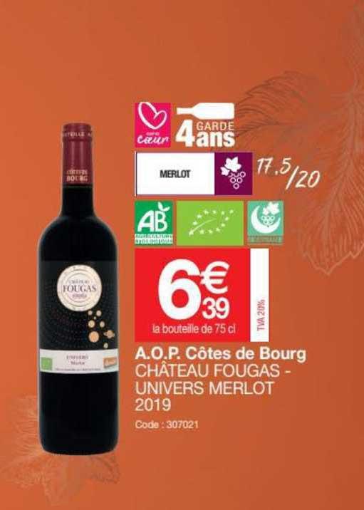 Promocash A.o.p. Côtes De Bourg Château Fougas - Univers Merlot 2019