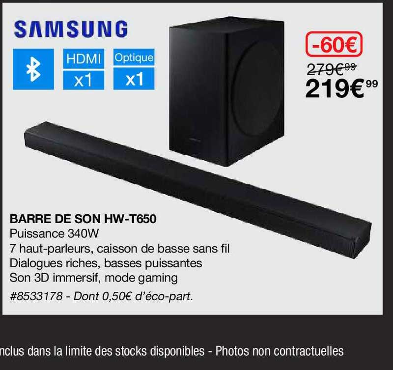 Costco Barre De Son Hw-t650 Samsung