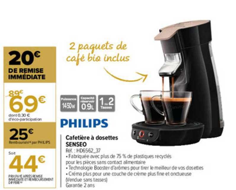 Offre Cafetiere A Dosettes Senseo Philips Chez Carrefour