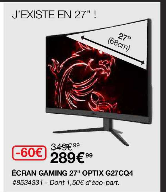 Costco écran Gaming 27