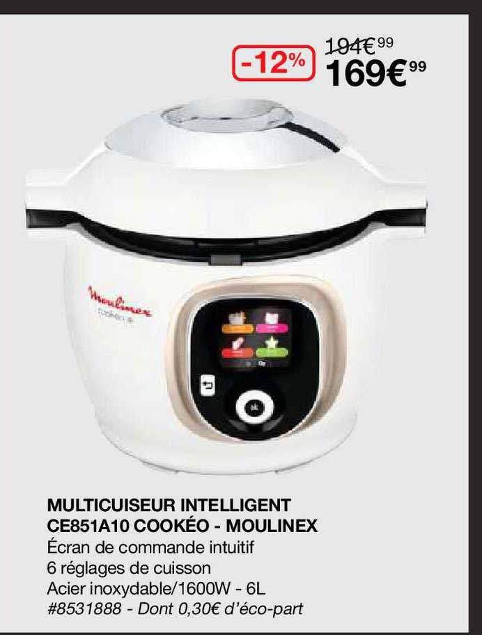 Costco Multicuiseur Intelligent Ce85a10 Cookéo - Moulinex