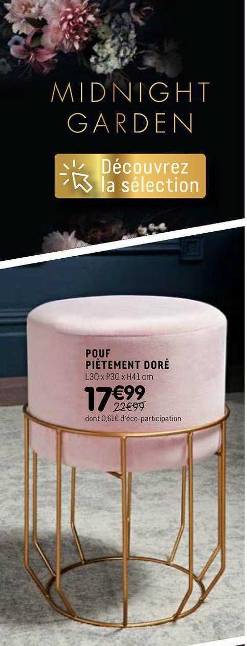 Offre Le Pouf Velours Pliable Chez Centrakor