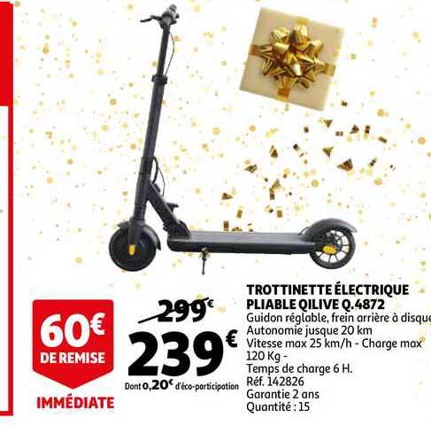 Auchan Direct Trottinette électrique Pliable Qilive Q.4872