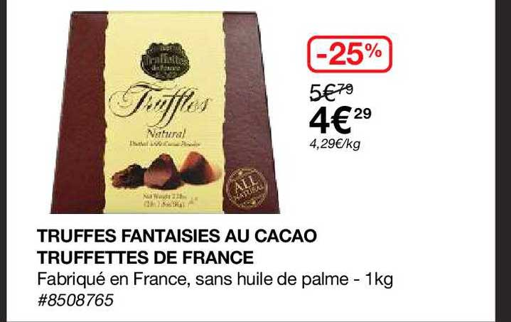 Costco Truffes Fantaisies Au Cacao Truffettes De France