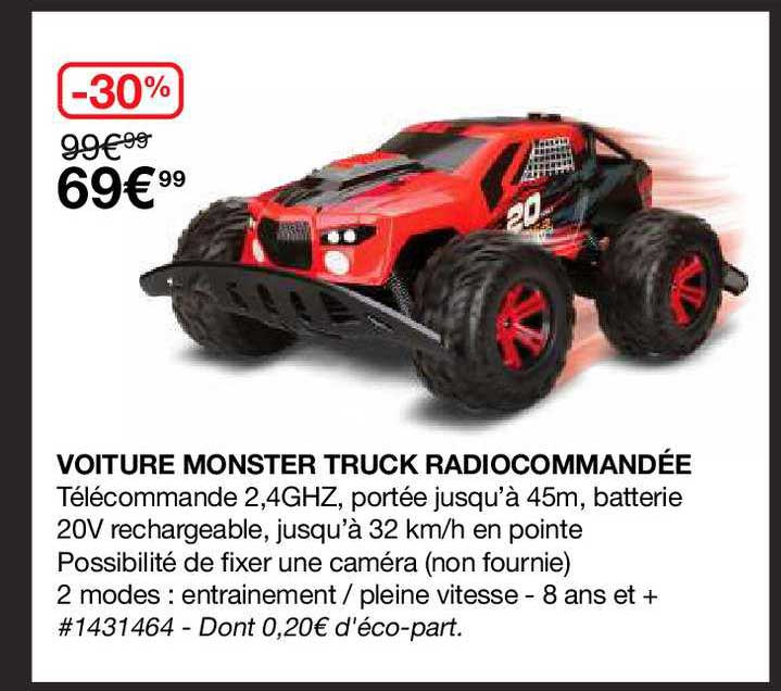 Costco Voiture Monster Truck Radiocommandée