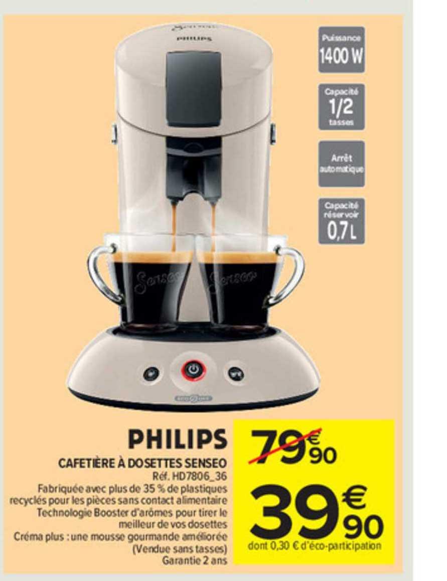 Carrefour Market Cafetière à Dosettes Senseo Philips