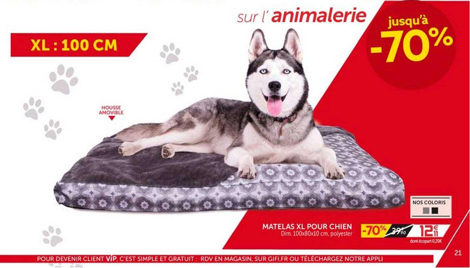offre matelas xl pour chien chez gifi