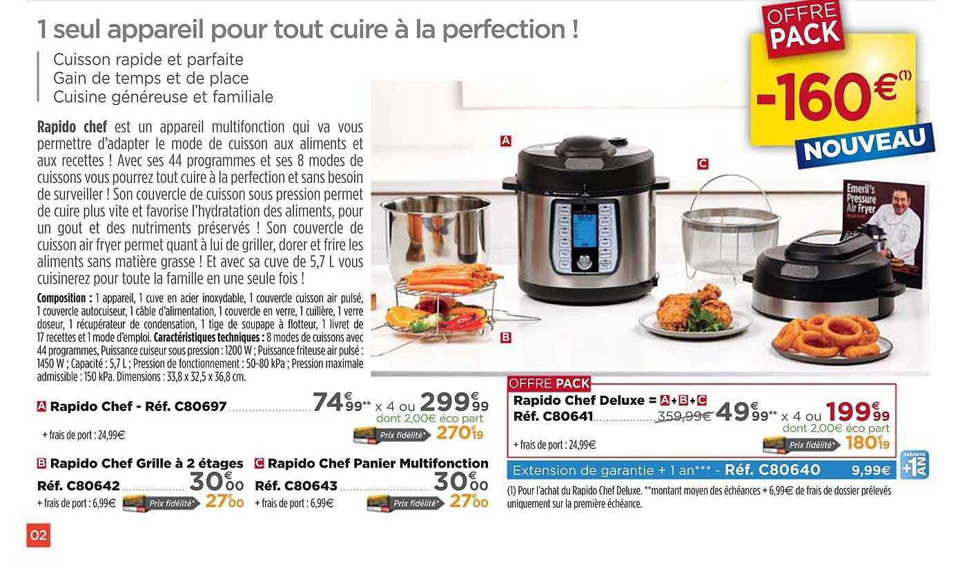 Teleshopping Rapido Chef, Rapido Chef Grille à 2 étages, Rapido Chef Panier Multifonction, Rapido Chef Deluxe