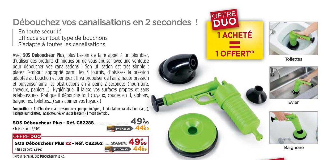 Teleshopping Sos Déboucheur Plus