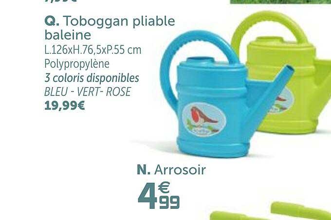 GiFi Toboggan Pliable Baleine, Arrosoir