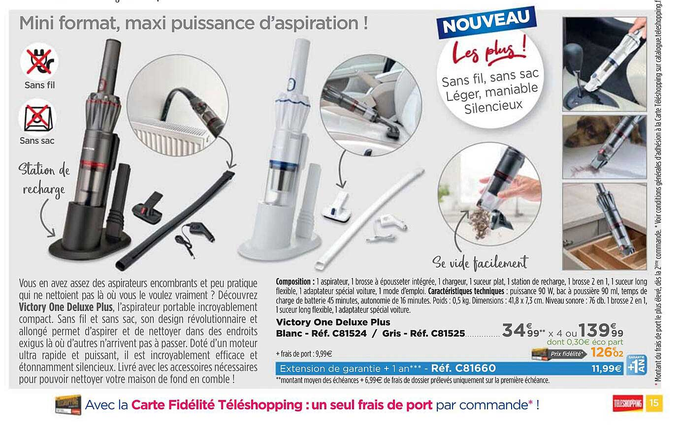 Teleshopping Victory One Deluxe Plus
