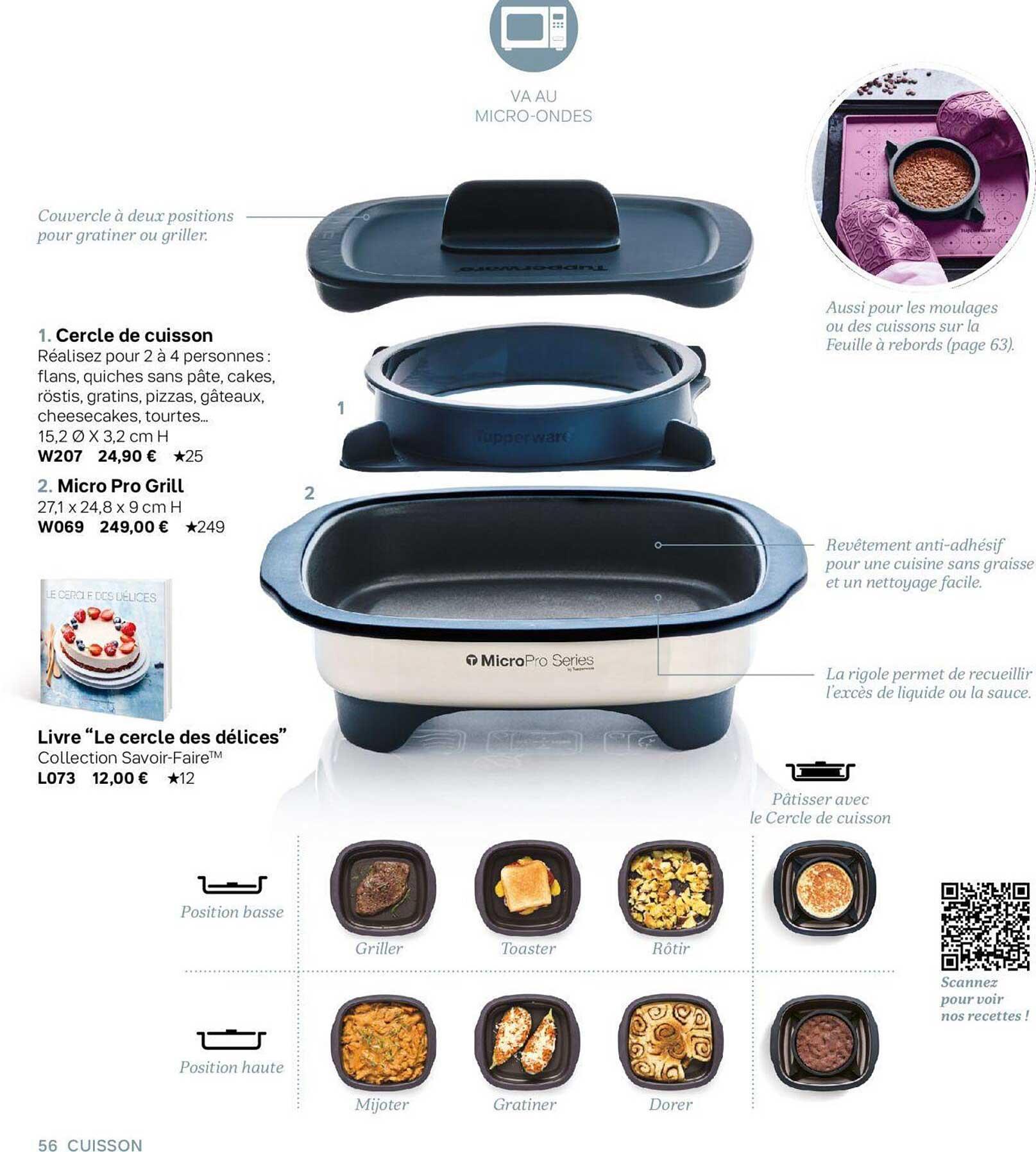Tupperware Cercle De Cuisson, Micro Pro Grill, Livre