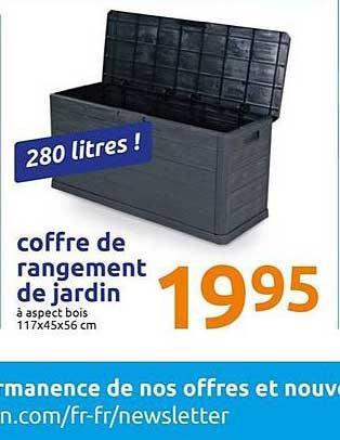 Offre Coffre De Rangement De Jardin Chez Action