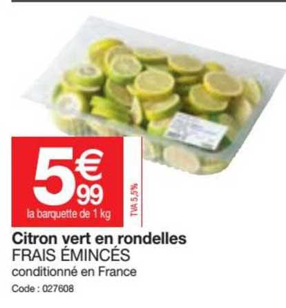 Promocash Citron Vert En Rondelles