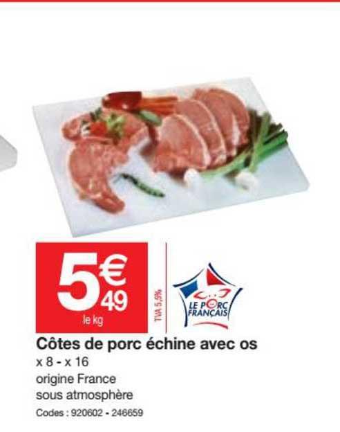 Promocash Côtes De Porc échine Avec Os