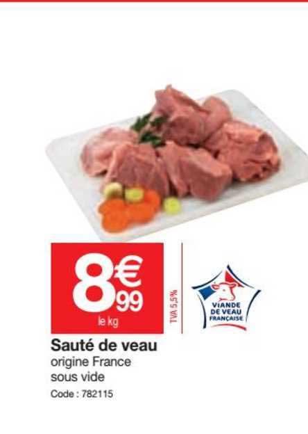 Promocash Sauté De Veau