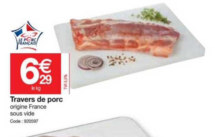 Promocash Travers De Porc