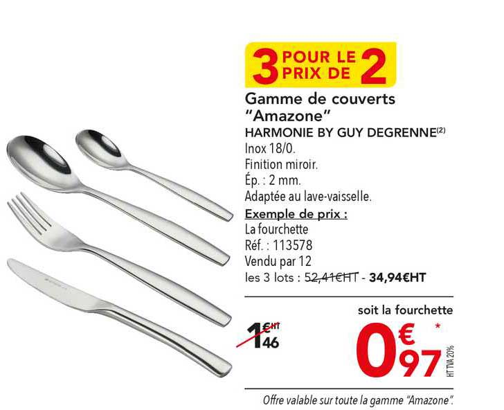 METRO Gamme De Couverts Amazone Harmonie By Guy Degrenne