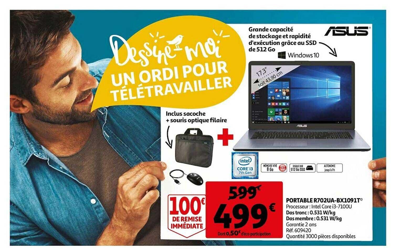 Auchan Portable R702ua-bx1091t Asus