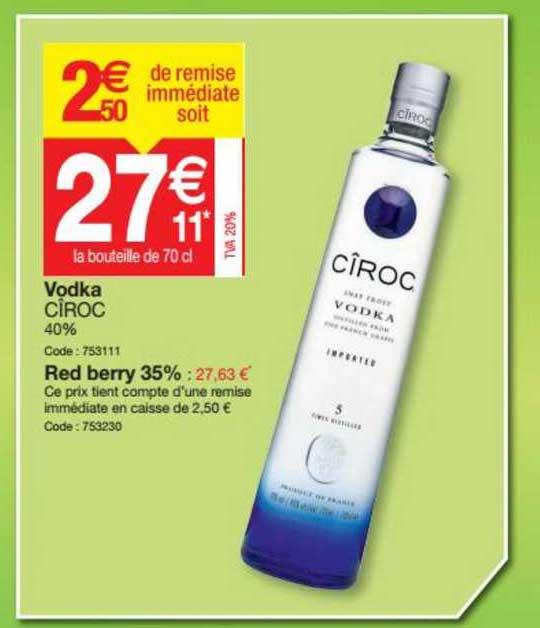 Promocash Vodka Cîroc