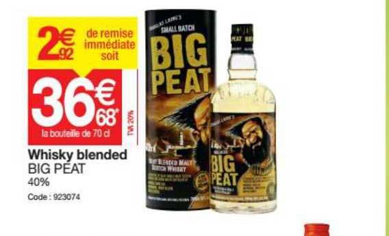 Promocash Whisky Blended Big Peat