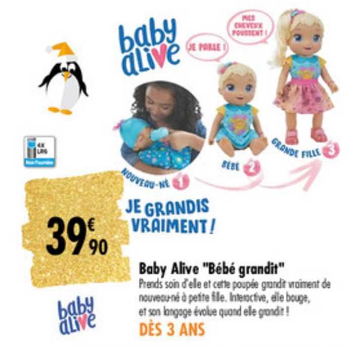 Carrefour Baby Alive Bébé Grandit
