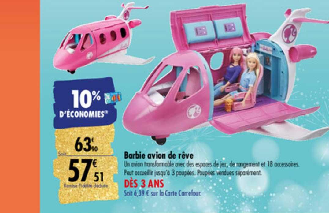 Carrefour Barbie Avion De Rêve