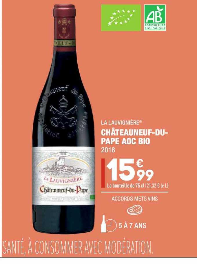 Aldi Châteauneuf Du Pape Aoc Bio La Lauvignière