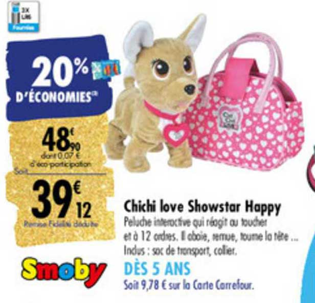 Carrefour Chichi Love Showstart Happy Smoby