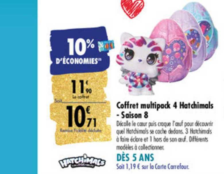 Carrefour Coffret Multipack 4 Hatchimals Saison 8