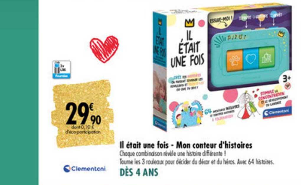 Carrefour Il était Une Fois Mon Conteur D'histoires Clementoni