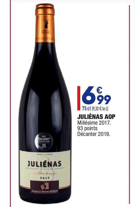 Aldi Juliénas Aop Millésime 2017
