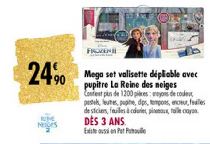 Carrefour Mega Set Valisette Dépliable Avec Pupitre La Reine Des Neiges