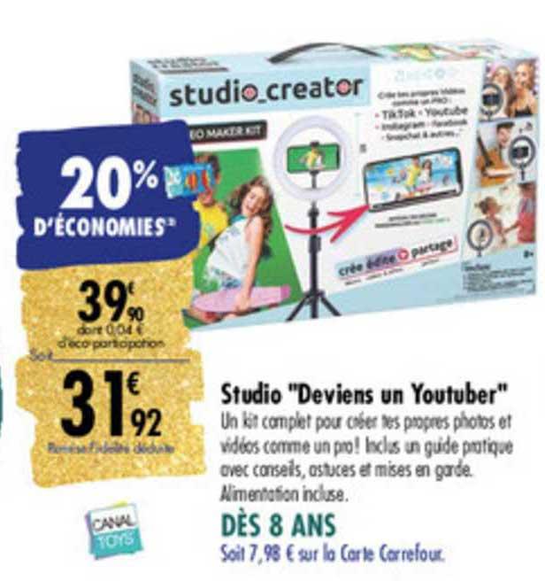 Carrefour Studio Deviens Un Youtuber Canal Toys