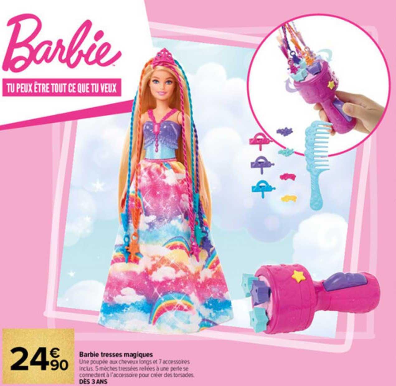Carrefour Barbie Tresses Magiques