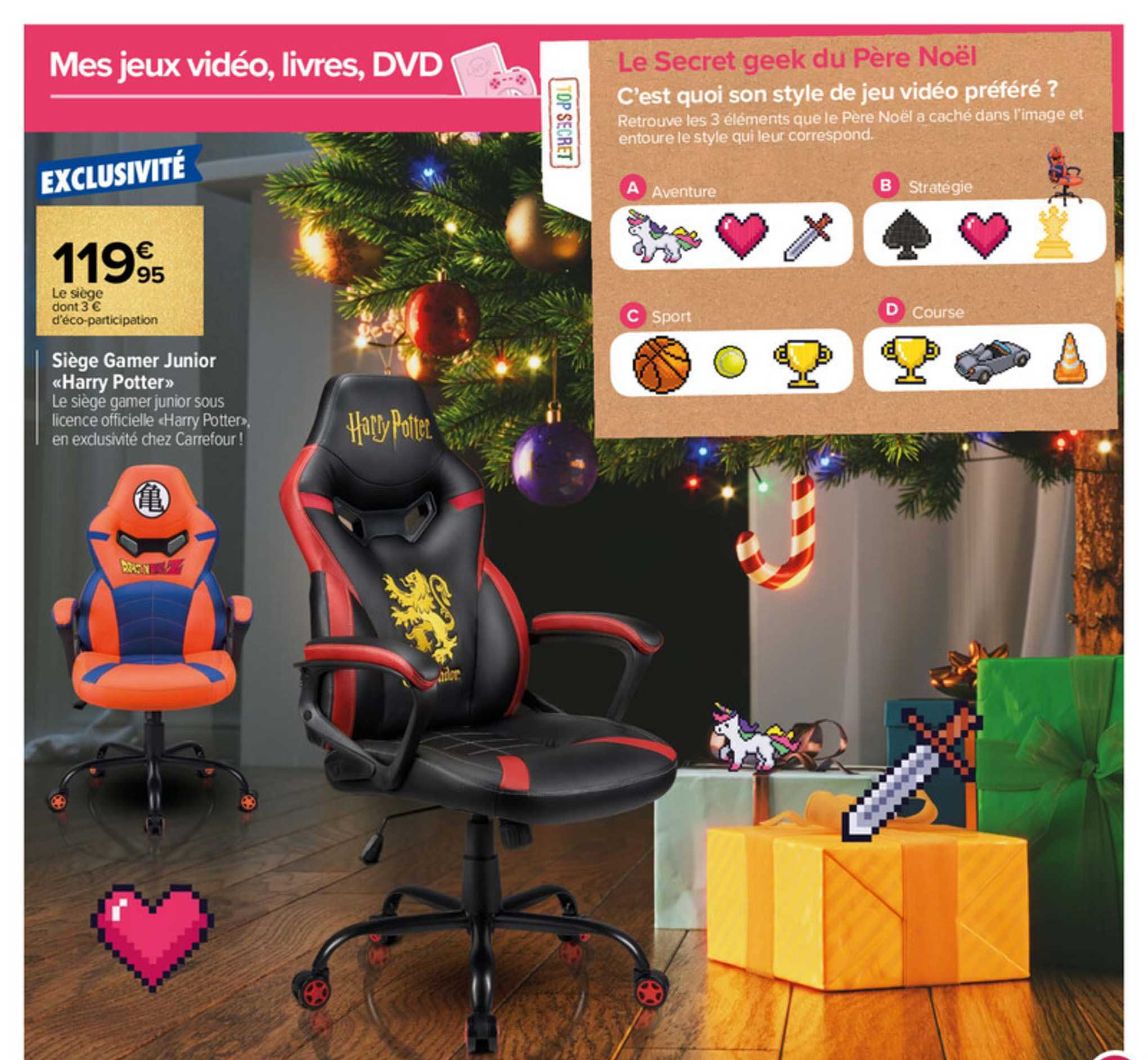 Carrefour Siège Gamer Junior