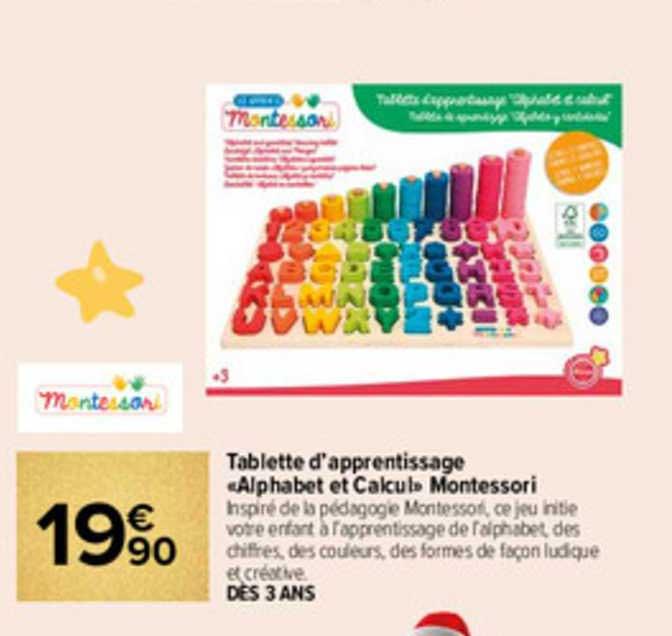 Carrefour Tablette D'apprentissage «alphabet Et Calcul» Montessori