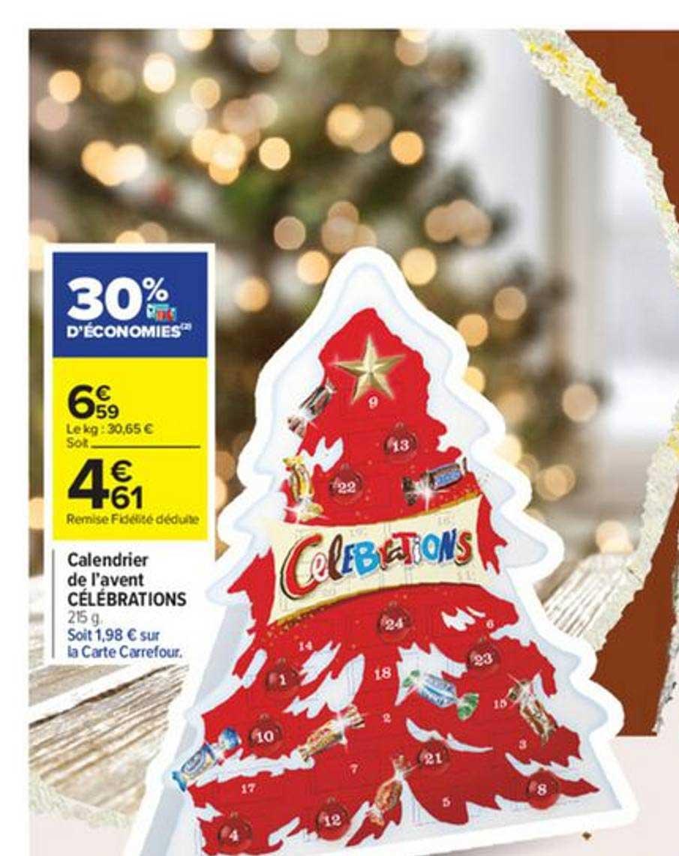 Calendrier Carte Cora 2022 Offre Calendrier De L'avent Célébrations chez Carrefour