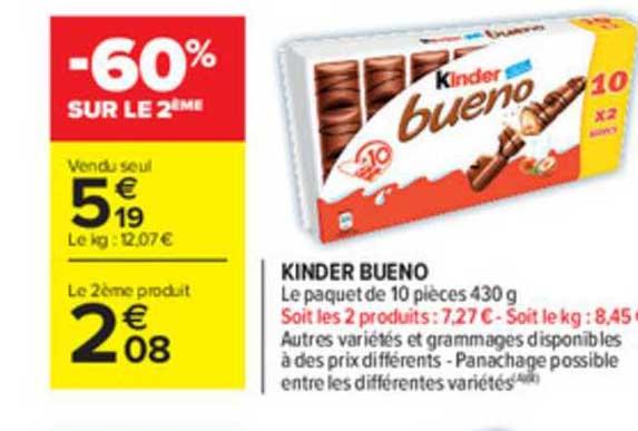Carrefour Market Kinder Bueno -60% Sur Le 2ème