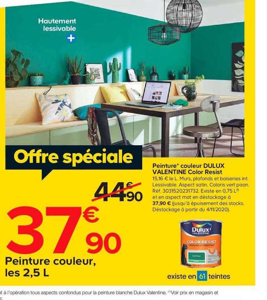 Offre Peinture Couleur Dulux Valentine Color Resisit Chez Castorama
