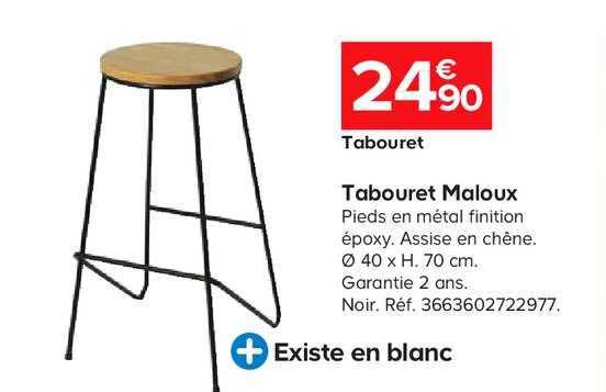 Offre Tabouret Maloux Chez Castorama